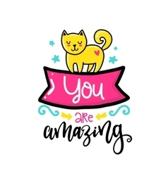 Creative typography card with phrase vector image vector image