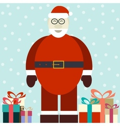 Flat of smiling Santa Claus vector image vector image