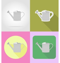garden tools flat icons 04 vector image vector image