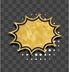 Gold star sparkle comic text bubble vector image