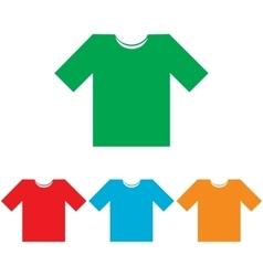 T-shirt sign Colorfull set vector image