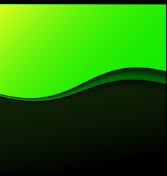 Abstract green wave background with stripes vector image vector image