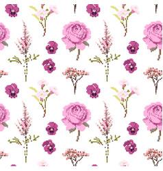 botanical flower seamless pattern flowers vector image vector image