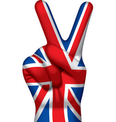 British victory sign vector image vector image
