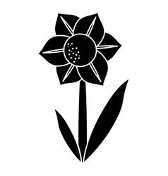 camellia flower natural pictogram vector image vector image