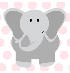 cute elephant - vector image vector image