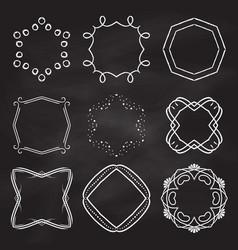 decorative frames on chalkboard background vector image vector image