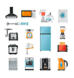 different household in cartoon style electrical vector image vector image