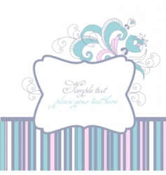 greeting card frame vector image vector image