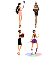 women in different situations vector image vector image