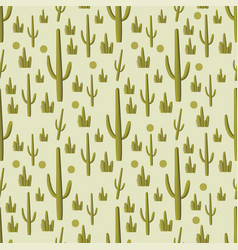 cactus green seamless pattern vector image vector image