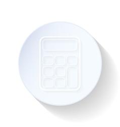 Calculator thin lines icon vector image vector image