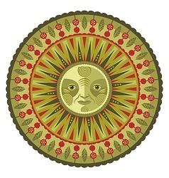 Decorative Spring Mandala vector image