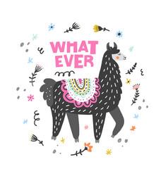 lama said whatever vector image
