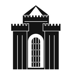 medieval palace icon simple style vector image