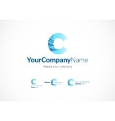 Modern icon design C letter vector image vector image