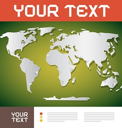 World Map Brochure Layout vector image vector image