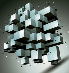 3d abstract technology perspective geometric vector