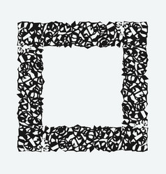 a grunge rough square frame vector image