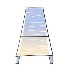 A sunbed vector