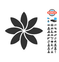 Abstract flower icon with free bonus vector