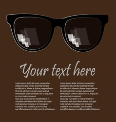 Advertising glases background vector