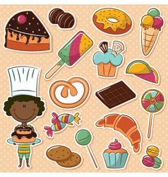 African-American confectioner vector
