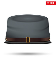 American civil war confederate cavalry hat vector