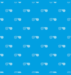 American glasses pattern seamless blue vector