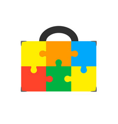 An isolated briefcase icon with a vector