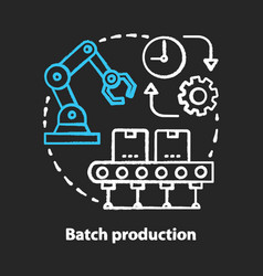 Batch production chalk concept icon manufacturing vector