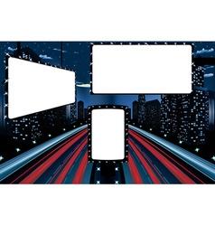 Billboards in Night City vector