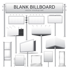 Blank billboard mockup for advertisement vector