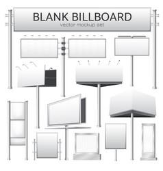 blank billboard mockup for advertisement vector image