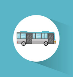 bus transport vehicle image vector image