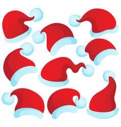 Christmas hats theme 2 vector