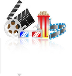 Cinema collection vector image