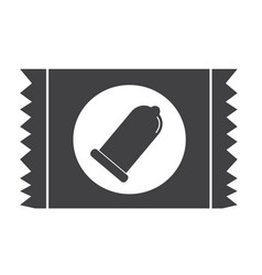 Condom package icon protection sign vector