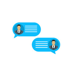 correspondence of two people chat of two people vector image
