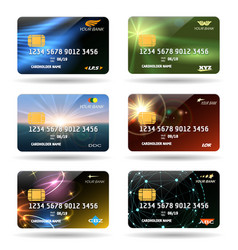 Credit or debit cards vector