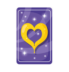 Divination card with heart vector