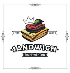 Emblem with sandwich vector