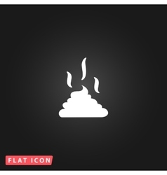 Feces icon clean up after pets symbol vector
