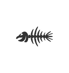 Fish bone Icon logo on white background vector