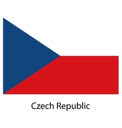Flag of the country czech republic vector image