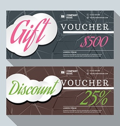Gift and Discount Voucher Design Print Template vector image