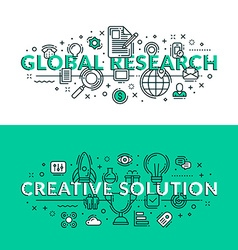 Global Research and Creative Solution Concepts vector