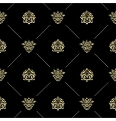 Golden royal baroque pattern vector image