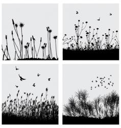 Grass silhouette vector
