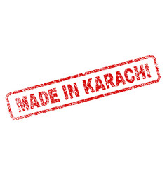 Grunge made in karachi rounded rectangle stamp vector